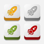 Ракета кнопку набор — Cтоковый вектор