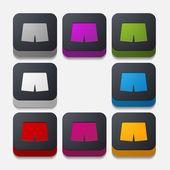 Trunks buttons — Stock Vector