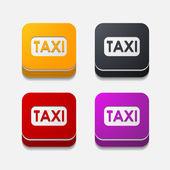 Taxi button set — Vector de stock