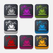 Palm button set — Stock Vector