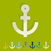 Anchor icons — Vector de stock