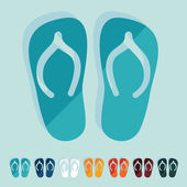 Slippers icons — Stockvektor