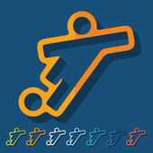 Voetbal-speler pictogrammen — Stockvector