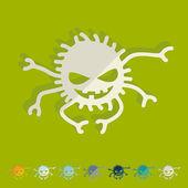 Pavouk ikony — Stock vektor