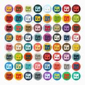 Zombie icons set — Stockvector