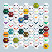 Bat icons set — Stock Vector