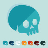 символ черепа — Cтоковый вектор