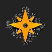 Compass sticker — Stock Vector