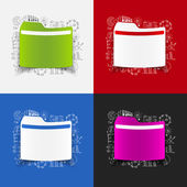Folder stickers set — Vector de stock