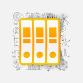 Folders sticker — Vector de stock