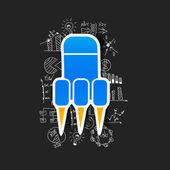 Rocket sticker — Stock Vector