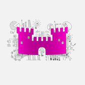 Fortress sticker — Stock Vector