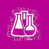 Chemia rury naklejki — Wektor stockowy