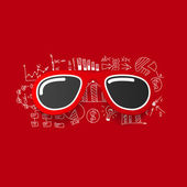 Sunglasses sticker — 图库矢量图片
