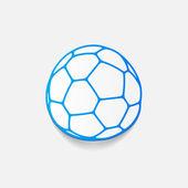Ball sticker — Stock Vector