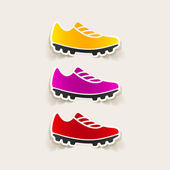 Sneakers stickers — Stock Vector