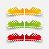 Sneakers stickers — Stock Vector