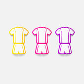 Football clothing stickers — Stock Vector
