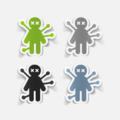 Voodoo Doll stickers — Stock Vector