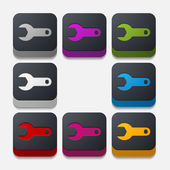 Wrench button — Stock Vector