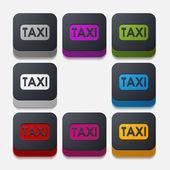 Taxi-knappen — Stockvektor