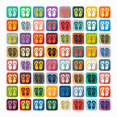 Slippers icons — Stock Vector
