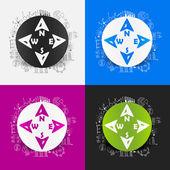 Compass stickers — Vetorial Stock