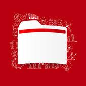 Folder sticker — Stock Vector
