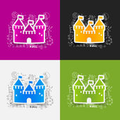 Fortress stickers — Stock Vector