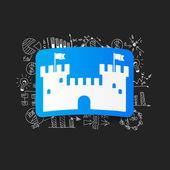 Fortress sticker — Stock Vector
