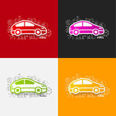 Car stickers — Stock Vector