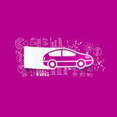 Car sticker — Stock Vector