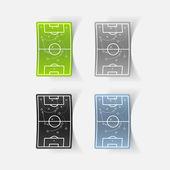 足球赛场的设计元素: — 图库矢量图片