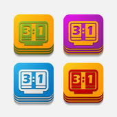 Quadrat-taste: anzeigetafel — Stockvektor