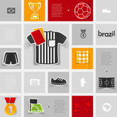 Football infographic — Stock Vector
