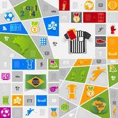 サッカー インフォ グラフィック — ストックベクタ