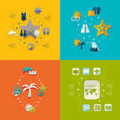Summer tourism icons — Stock Vector