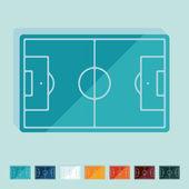 Flat design: playing field — Stockvektor