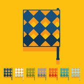 Flat design: linesman flag — Stock Vector