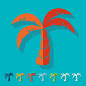 Flat design: palm — Stock Vector