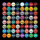 Bat icons — Stock Vector