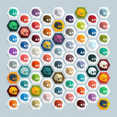 Skull icons — Stock Vector