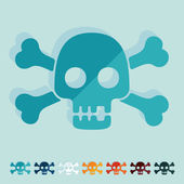 Skull icons — Stock Vector