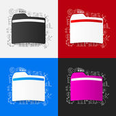 Folders with business formulas — Stock Vector