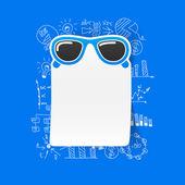 Sunglasses business formulas — Stock Vector