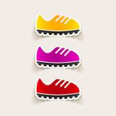 Sneakers design element — Stock Vector