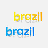 Brazil inscription — Stock Vector