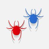 Spider design element — Stock Vector