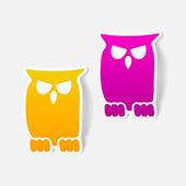 Owl design element — Stock Vector