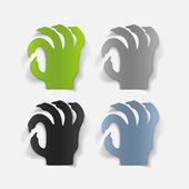 Zombie design element — Stock Vector